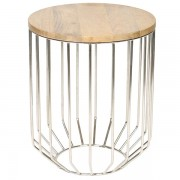 wire frame accent table