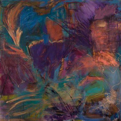 Spirit - Acrylic & Mixed Media on Canvas, 5'x5'