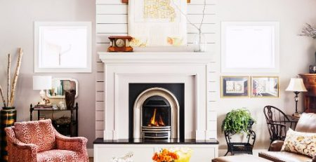 The perfect amount of shiplap used on this fireplace