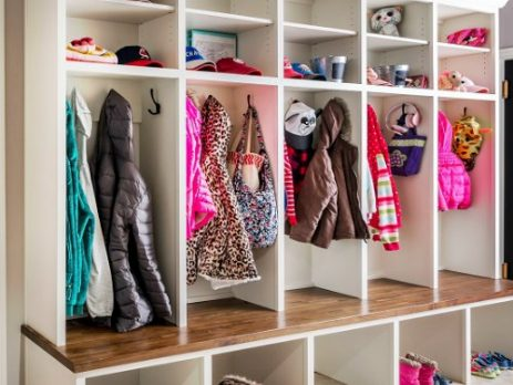 Stylish put-together mudroom that is family friendly