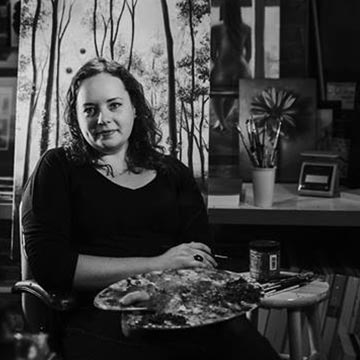 local artist Christie Snelson portrait