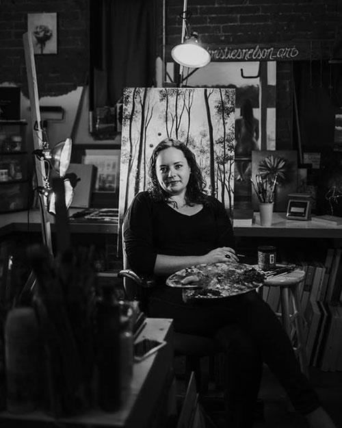 portrait studio shot of Christie Snelson