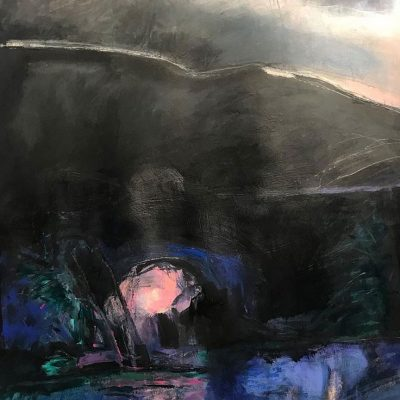 Camp at Wildcat Creek by Jane Parker, Group Blackout Show 2019, Obelisk Home, OH Gallery