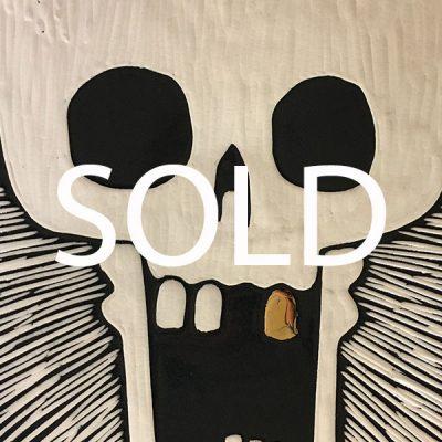 Skull Platter by Kendle Durde, Group Blackout Show 2019, Obelisk Home, OH Gallery
