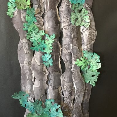 Foliose Lichens by Lura Faye Cotton, Group Blackout Show 2019, Obelisk Home, OH Gallery