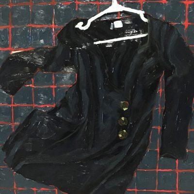 Little Black Dress by Madeline Brice, Group Blackout Show 2019, Obelisk Home, OH Gallery