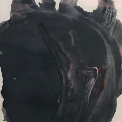 Sidecar by Meganne Rosen, Group Blackout Show 2019, Obelisk Home, OH Gallery