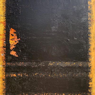 Not a Rothko but Mothko by Meike Aton, Group Blackout Show 2019, Obelisk Home, OH Gallery