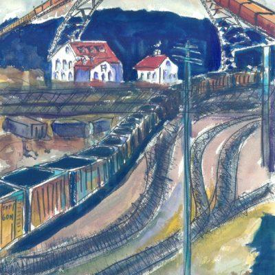 Ashtabula Coal Yards by Karen Schneider, Obelisk Home, OH Gallery