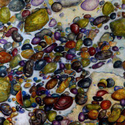 Beach Glass, Stones and Brick by Karen Schneider, Obelisk Home, OH Gallery