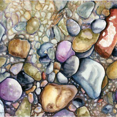 Beach Stones by Karen Schneider, Obelisk Home, OH Gallery