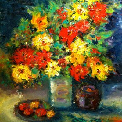 Floral Bouquet by Karen Schneider, Obelisk Home, OH Gallery