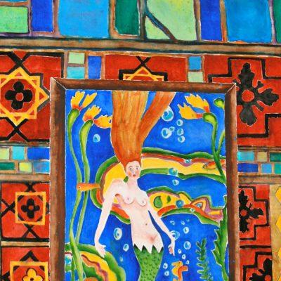 Catalina Mermaid by Karen Schneider, Obelisk Home, OH Gallery