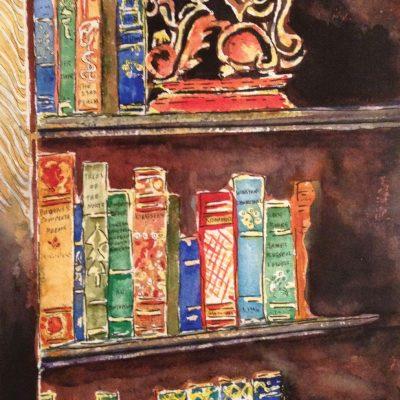 Griffin and Books by Karen Schneider, Obelisk Home, OH Gallery