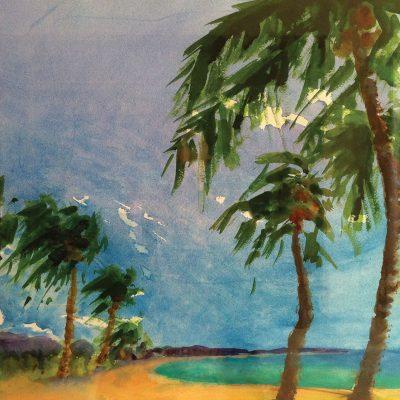 Kailua Beach by Karen Schneider, Obelisk Home, OH Gallery
