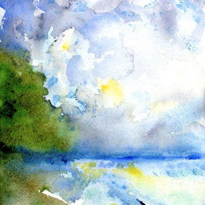 Lake Erie IV by Karen Schneider, Obelisk Home, OH Gallery