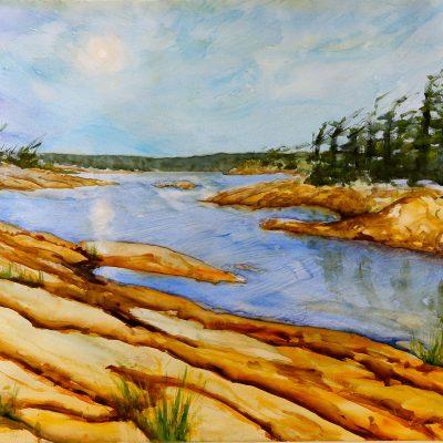 McGregor Bay Canada II by Karen Schneider, Obelisk Home, OH Gallery