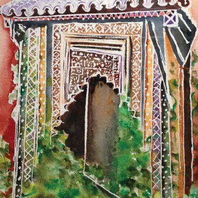 Moroccan Prayer Nook by Karen Schneider, Obelisk Home, OH Gallery