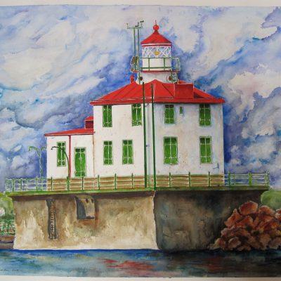 Our Star Beacon, the Ashtabula Lighthouse by Karen Schneider, Obelisk Home, OH Gallery