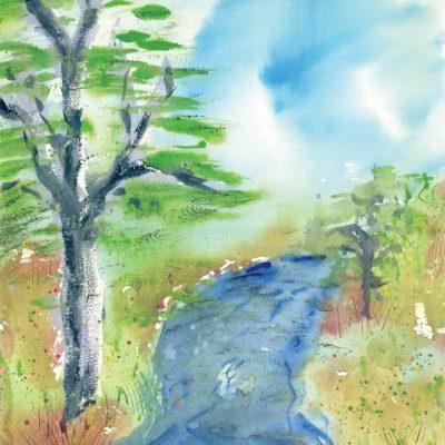 Pearson Creek, Windy Day by Karen Schneider, Obelisk Home, OH Gallery