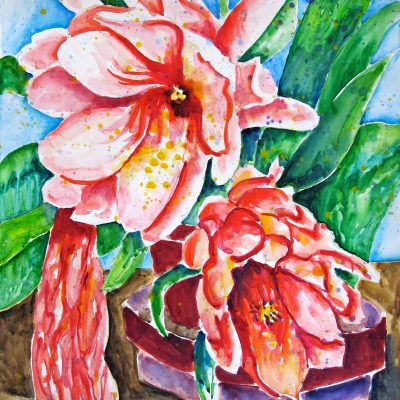 Pink Floral by Karen Schneider, Obelisk Home, OH Gallery