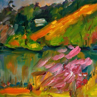 Spring Pond by Karen Schneider, Obelisk Home, OH Gallery