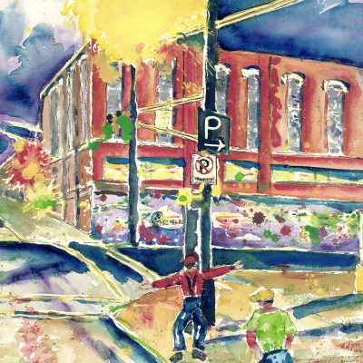 Stanley and Livingston Discover Downtown Springfield by Karen Schneider, Obelisk Home, OH Gallery