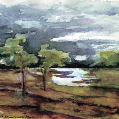 Storm Over Marsh by Karen Schneider, Obelisk Home, OH Gallery