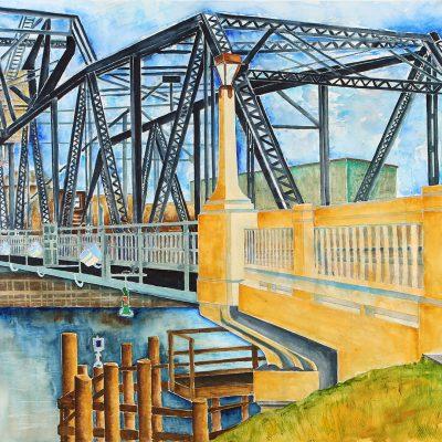 The Lift Bridge by Karen Schneider, Obelisk Home, OH Gallery