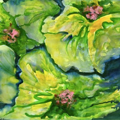 Three Water Lillies by Karen Schneider, Obelisk Home, OH Gallery