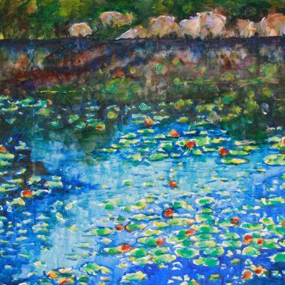 Water Lillies by Karen Schneider, Obelisk Home, OH Gallery