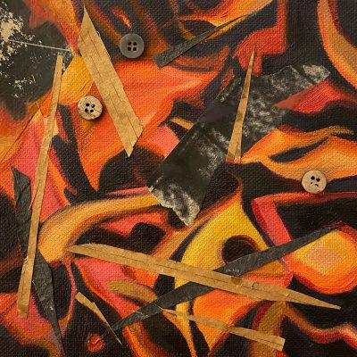 Sticks and Stones After Lee Krasner by Christie Snelson