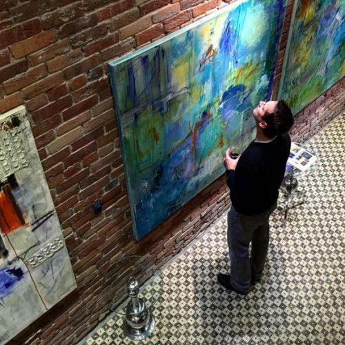 Betty Parnell Obelisk Home_Art opening